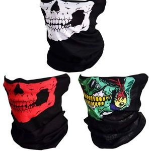 Other - 3pcs Seamless Skull Face Tube Mask Black Color Set